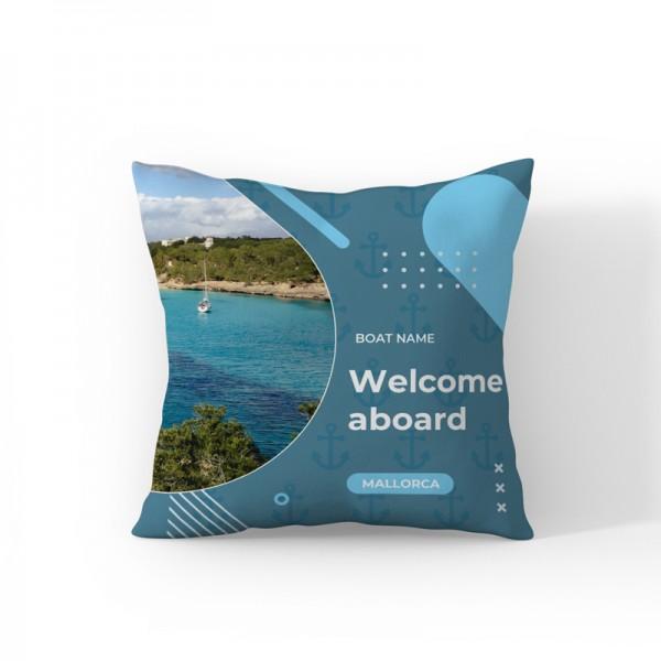 """Kissen (Outdoor) personalisierbar: """"Welcome aboard""""personalisiert"""