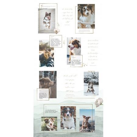 Wandbild personalisierbar: ,,Hundeliebe'' in 60 cm x 120 cmpersonalisiert