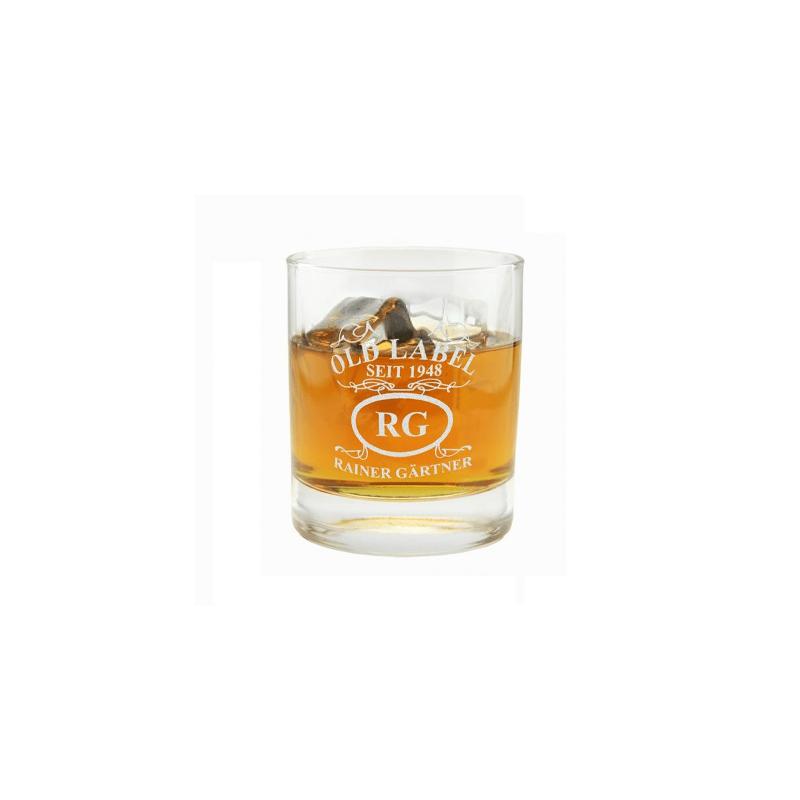 """Whiskyglas personalisierbar: """"Emblem - Old Label""""personalisiert"""