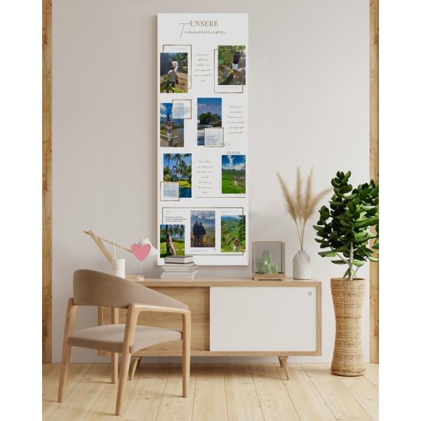 Wandbild personalisierbar: ,,Unsere Traumreise'' in 60 cm x 120 cmpersonalisiert
