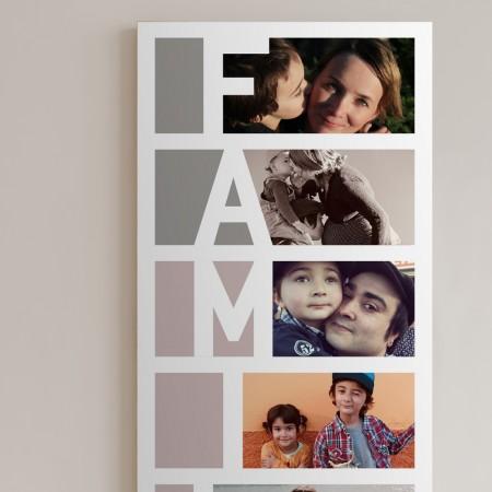 """Wandbild personalisierbar: """"Familie"""" in 29 cm x 90 cmpersonalisiert"""