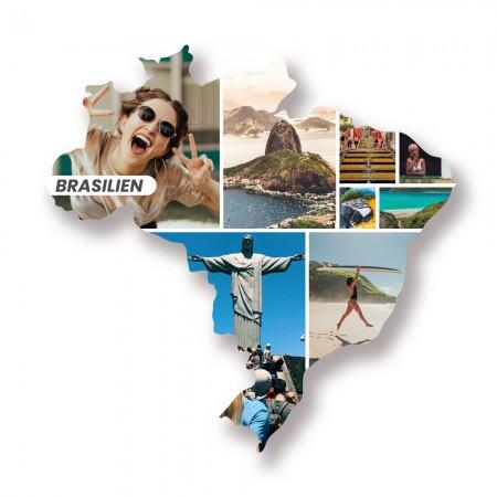 """Länderumriss personalisierbar: """"Brasilien""""personalisiert"""