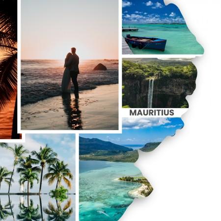 "Länderumriss personalisierbar: ""Mauritius""personalisiert"